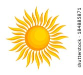 sun icon. vector illustration... | Shutterstock .eps vector #184885871