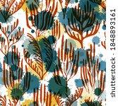ocean corals seamless pattern.... | Shutterstock .eps vector #1848893161