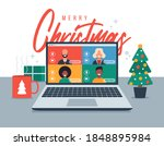 christmas online greeting.... | Shutterstock .eps vector #1848895984