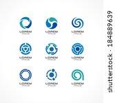 set of icon design elements.... | Shutterstock .eps vector #184889639