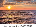 atlantic sunset. sunset... | Shutterstock . vector #184890749