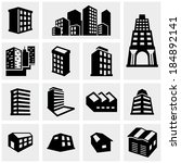 building vector icons set on...