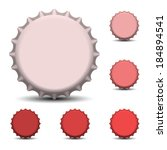 bottle caps vector  | Shutterstock .eps vector #184894541