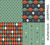 four seamless patterns.... | Shutterstock .eps vector #184899431