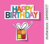 happy birthday card. present...   Shutterstock .eps vector #184900577