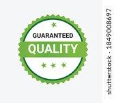 premium quality guaranteed... | Shutterstock .eps vector #1849008697