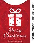 merry christmas   happy new... | Shutterstock .eps vector #1849017184