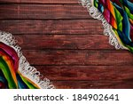 fiesta  wooden background with... | Shutterstock . vector #184902641