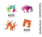hand care kids logo template... | Shutterstock .eps vector #1849029391