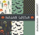 vector set of six halloween... | Shutterstock .eps vector #184903097