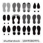 human footprints. different... | Shutterstock .eps vector #1849080991