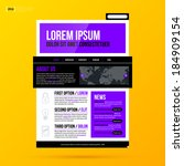 modern website template on...
