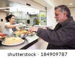 kitchen serving food in... | Shutterstock . vector #184909787