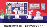 santa claus having video... | Shutterstock .eps vector #1849099777