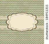 vintage card design with frame... | Shutterstock . vector #184911311