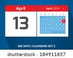 13 april vector day calendar ...