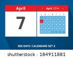 7 april vector day calendar ...