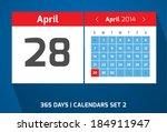 28  april vector day calendar ...