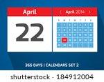 22 april vector day calendar ...