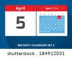 5 april vector day calendar ...