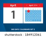 1 april vector day calendar ...