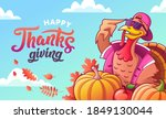 happy thanksgiving. banner with ...   Shutterstock .eps vector #1849130044