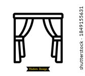 curtain icon with modern design.... | Shutterstock .eps vector #1849155631