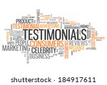 word cloud with testimonials... | Shutterstock . vector #184917611