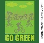 go green  vector | Shutterstock .eps vector #184917944