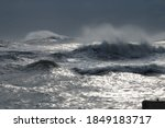 Wild Stormy Sea In Winter...