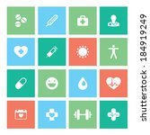 healthy lifestyle flat square... | Shutterstock .eps vector #184919249