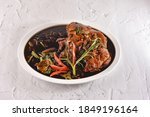 Small photo of Pata tim, also spelled patatim, is a Filipino braised pork hock dish slow-cooked until very tender in soy sauce, black peppercorns, garlic, bay leaves, and star anise sweetened with muscovado sugar.