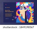 landing page  woman's portrait  ... | Shutterstock .eps vector #1849198567