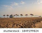 Empty Deserted Sandy Beach With ...