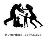 custody fight. main victims are ... | Shutterstock . vector #184921829