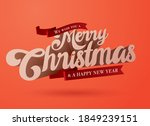 3 dimension christmas greetings ... | Shutterstock .eps vector #1849239151