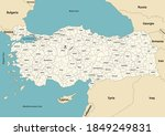 turkey provinces and districts...   Shutterstock .eps vector #1849249831