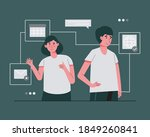 contact us on website or email... | Shutterstock .eps vector #1849260841