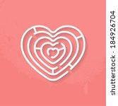 heart maze | Shutterstock .eps vector #184926704