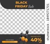 editable square banner template....   Shutterstock .eps vector #1849271701