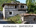 Ruins Of A Stone Village House...