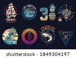 surf vector patch emblem set. a ... | Shutterstock .eps vector #1849304197