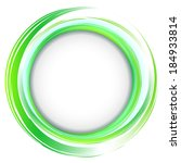 vector. round frame. green... | Shutterstock .eps vector #184933814