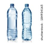 Two Water Bottles Isolated On...