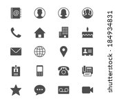 contact flat icons | Shutterstock .eps vector #184934831