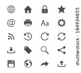 web flat icons | Shutterstock .eps vector #184934855