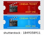 cinema ticket  red and blue... | Shutterstock .eps vector #1849358911