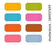 colorful vector ticket set... | Shutterstock .eps vector #184937699