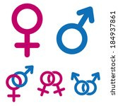 male and female symbols | Shutterstock .eps vector #184937861