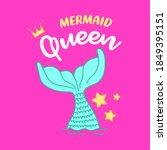 Mermaid Queen  Illustration Of...
